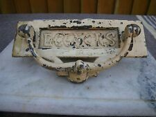 ANTIQUE RECLAIMED WEATHERED BRASS 'LETTERS' LETTER BOX & DOOR KNOCKER