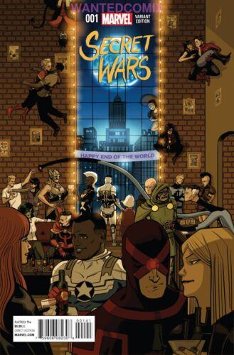 ZDARSKY PARTY VARIANT COVER MARVEL COMIC BOOK NEW 2015 NM SECRET WARS #1 OF 8