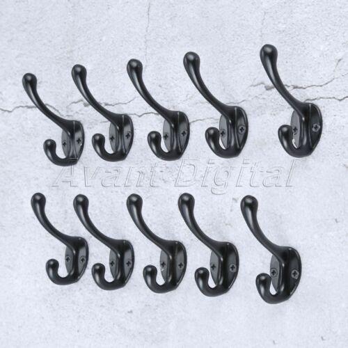 1//5//10Pcs 55*43*19mm Hat Coat Clothes Wall Door Hanger Antique Bronze Tone Hook