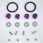 Purple Aluminum Quick Release Fasteners Kit For Bumper & Trunk Hatch Car/Truck