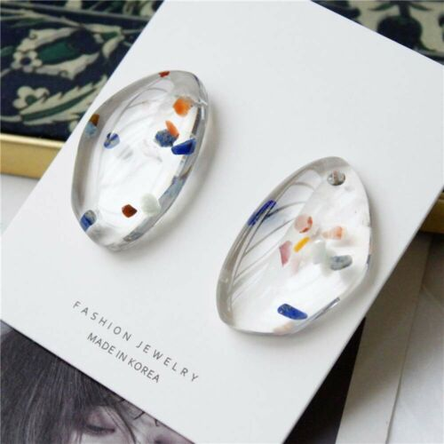 Geometric Irregular Transparent Acrylic Stud Earrings Jewelry for Girl CA.