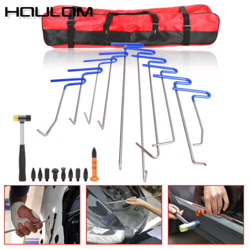 10× Car Push Rods Dent Puller Lifter Paintless Hail Repair Removal Tools Tabe