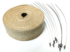 2 X 50 Exhaust Header Heat Wrap Tan With Stainless Straps Hot Rod Motorcycle