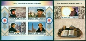 Martin Luther Personalities Reformation Protestantism Sierra Leone MNH Stamp Set