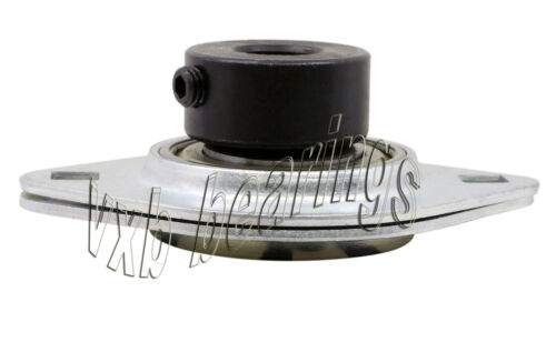 """SBPFL207-22 Pressed Steel Bearing Unit 2-Bolt 1 3//8/"""" inch Flanges Mounted Bearin"""