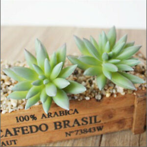 Green Lotus Artificial Succulent Plant Mini Faux Potted Plants Home Hotel Decro