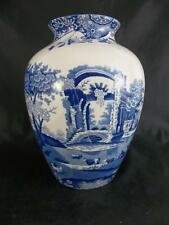 "Spode Blue Italian Beautiful tulip vase 7 1/2"" - Made in England -         s1588"