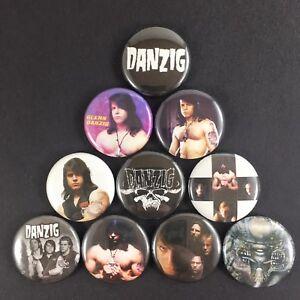 Danzig-1-034-Button-Pin-Set-Glenn-Danzig-Misfits-Samhain-Horror-Punk-Metal-Rock