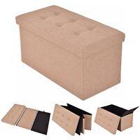 Storage Bench Ottoman Entryway Modern Accent Hallway Footrest Organizer Seat Box