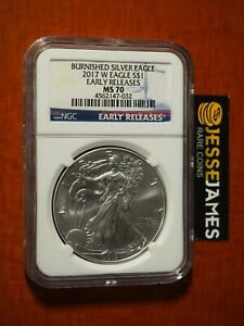 2017-W-BURNISHED-SILVER-EAGLE-NGC-MS70-EARLY-RELEASES-BLUE-LABEL