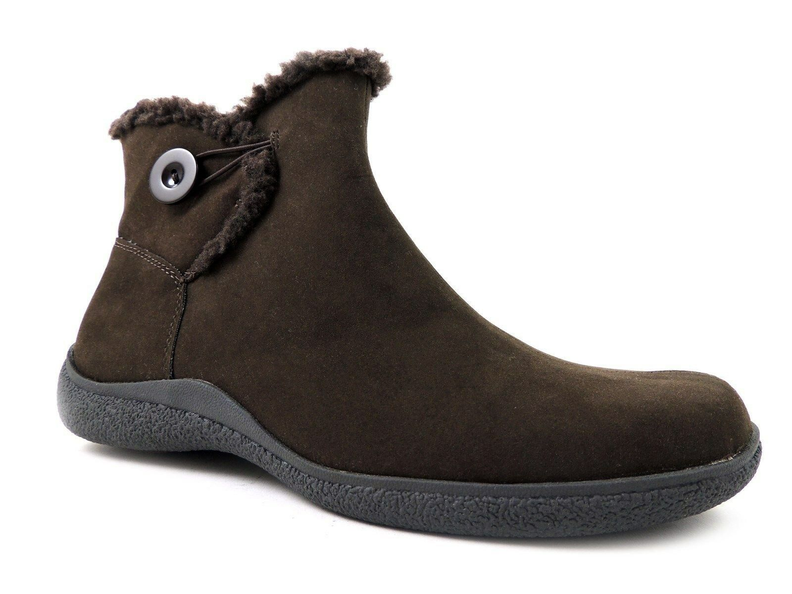 Karen Scott Women's Grady Cold Winter W/Button Ankle-Boots Brown Sz 9.5 M