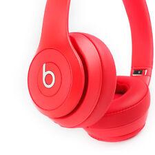 Beats by Dre Solo3 On-Ear Bluetooth Wireless Adjustable Headphones - Red 3ba521c75773