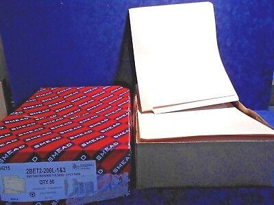 Smead Manila Folders Two Fasteners End Tab Legal 14pt Manila 50//Box 37215