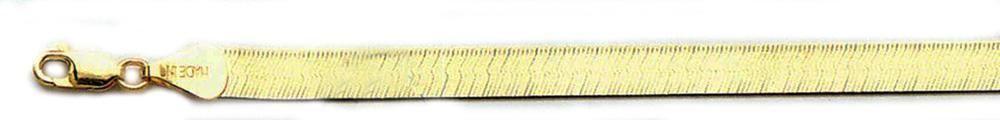 Solid 10k Yellow gold 6mm Herringbone Chain Bracelet Size 8