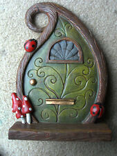 NEW LARGE RESIN HANGING OR STANDING FAIRY DOOR FOR FAIRY OR GNOME GARDEN