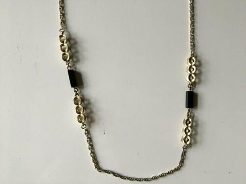 Antique Victorian Ball Link Necklace 835 Silver 80 CM Long