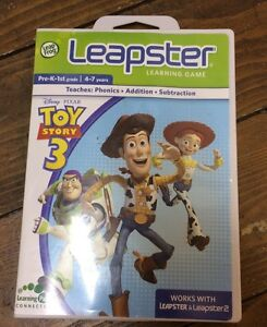 LEAPFROG LEAPSTER & LEAPSTER 2 /LEARNING GAME / TOY STORY 3 /WITH CASE