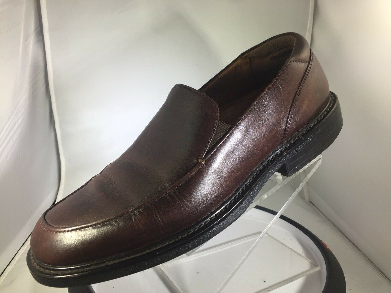 Florsheim Brown Toe Leather Slip On Apron Toe Brown Dress Loafers Men's Size 10 M c789da