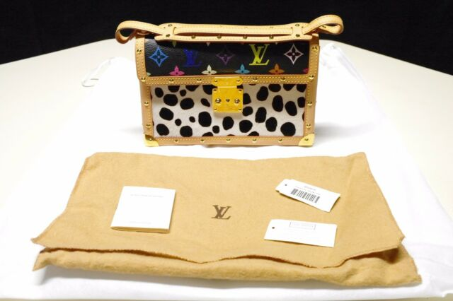 100% Auth RARE Louis Vuitton LV Monogram Multicolor Pochette Dalmatian  Murakami bca95a4de4124