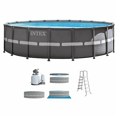 "Intex 18' x 52"" Ultra Frame Above Ground Swimming Pool Set with Sand Filter Pump"