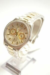 Fossil-ES4316-Scarlette-Silver-Dial-Two-Tone-Chronograph-Ladies-Watch