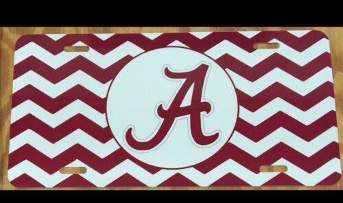 Alabama Chevron License Plate New Car Tag Metal Roll Tide