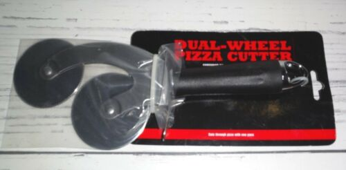 Dual-Wheel Pizza Cutter Grill Brand NIP Large Cuts Pizza With One Pass