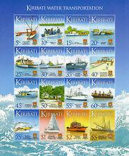 Kiribati 2013 MNH Water Transport Transportation Defin 16v M/S Ships Stamps