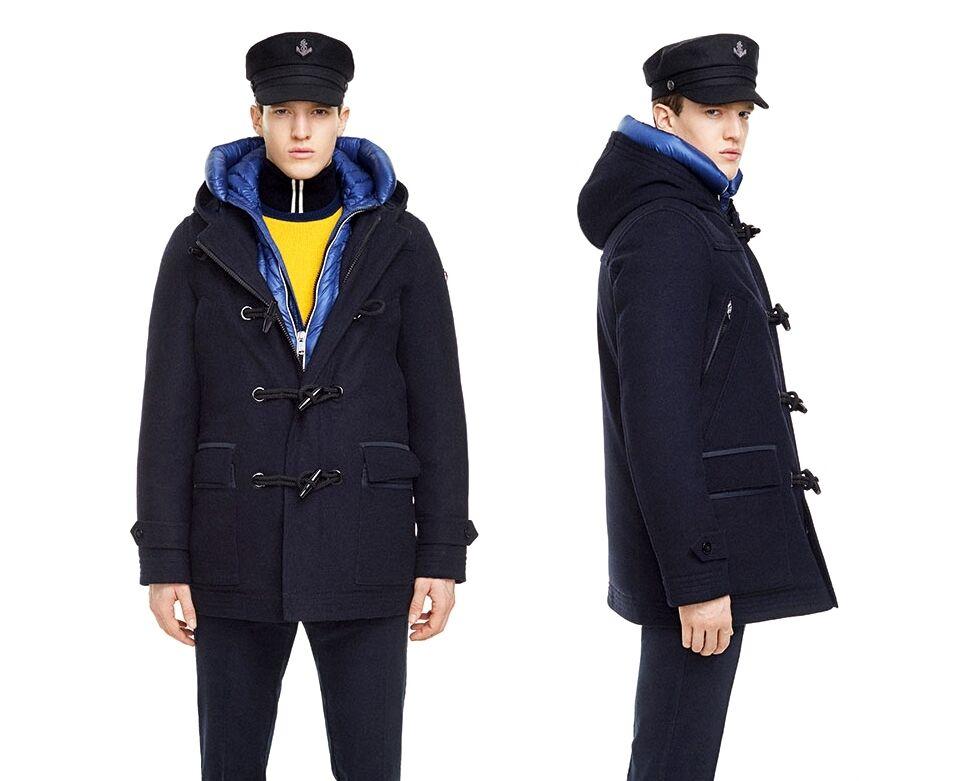 MARINA YACHTING 3in1 Navy Teflon Wool Down Hooded Duffle Coat UK40 IT50 BNWT