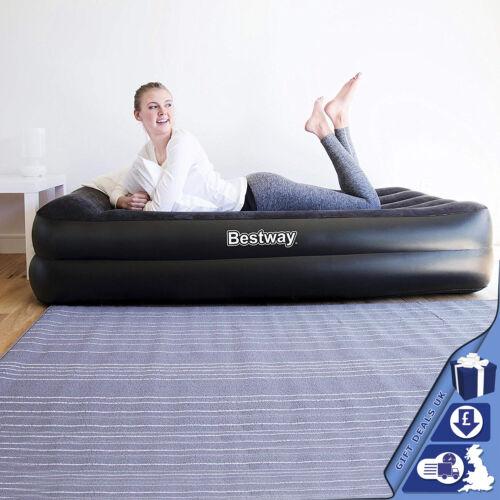 Bestway floqué gonflable Premium Simple Air Lit//Matelas /& Sidewinder pompe à air
