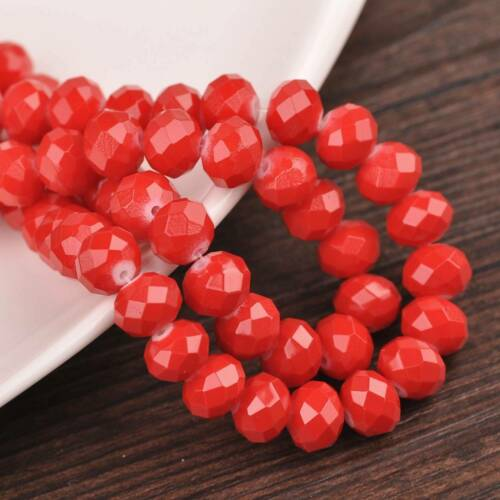Wholesale 4//6//8//10mm Rondelle Faceted Coated Glass Loose Spacer Beads Jewelry