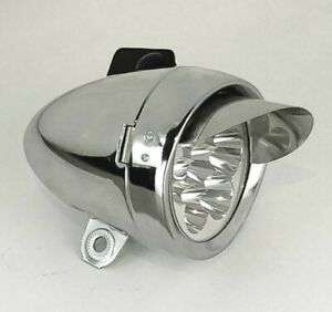 NEW! Bicycle Bike LOWRIDER Bullet Light 1//Bulb 777 Chrome SHOW PART CHOPPER