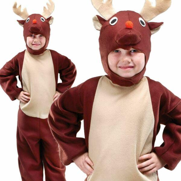 100% De Calidad Para Niños Niños Disfraz De Reno Todo En Uno Navidad Elaborado Vestido Traje Navidad-ver Precio De Venta Directa De FáBrica