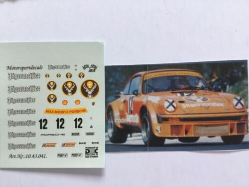 1//43 decal Porsche 934 Jägermeister DRM//nurburgring #12 Max Moritz
