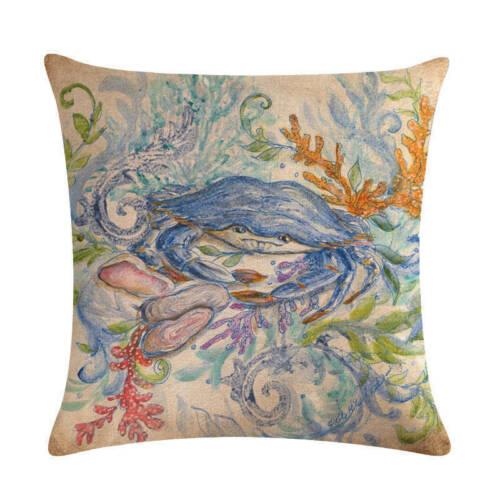 """18/"""" Peinture à l/'encre étoile de mer en Coton Lin housse de coussin taie d/'oreiller Home Decor"""