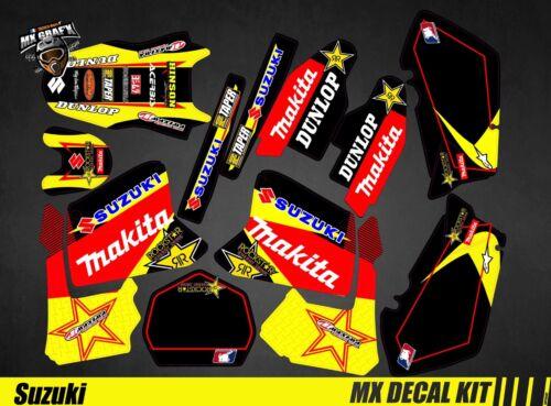 Kit Deco Motorcycle For MX Decal Kit For Suzuki RM 125//250 Makita