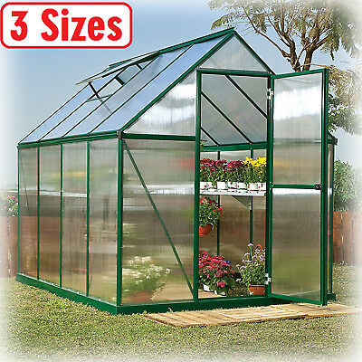 Greenhouse Kit 3 Size Portable Walk In Polycarbonate Panel Plant Outdoor  Garden | eBay