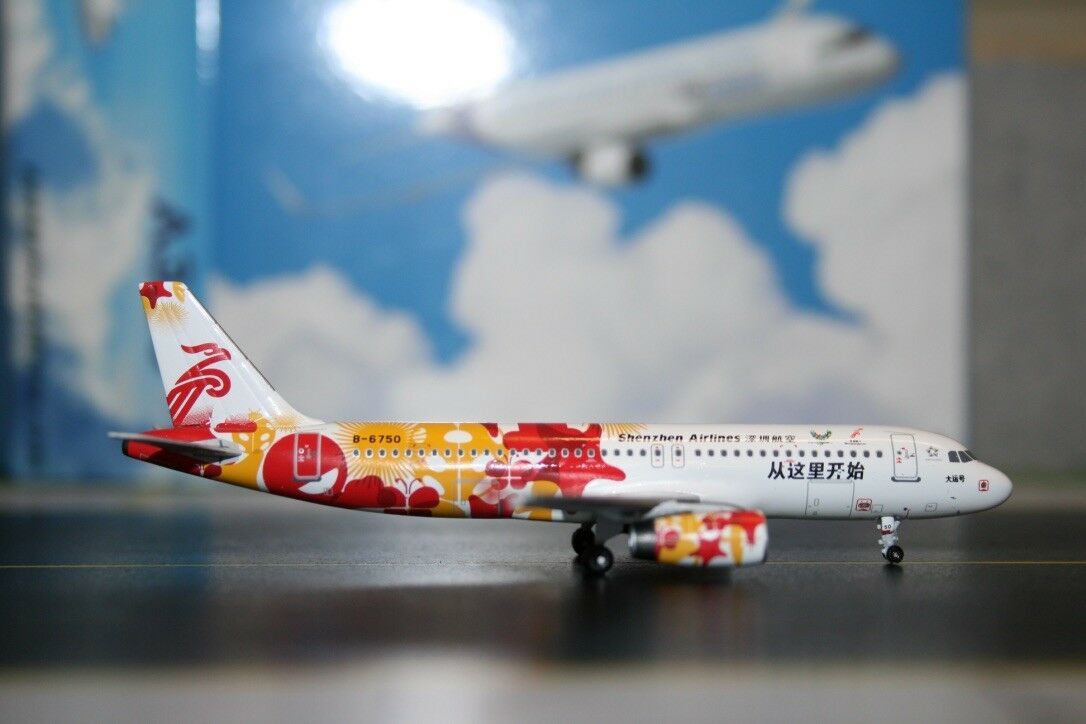 Panda Model Skywings 1 400 Shenzhen Airlines Airbus A320-200 B-6750 (SKY-PM-034)