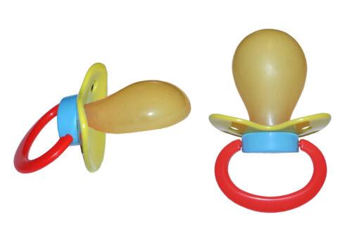 """Adult Big Pacifier buzzsucker /""""Multicolore 3/"""" Nº BNS 400 multicolore 3"""