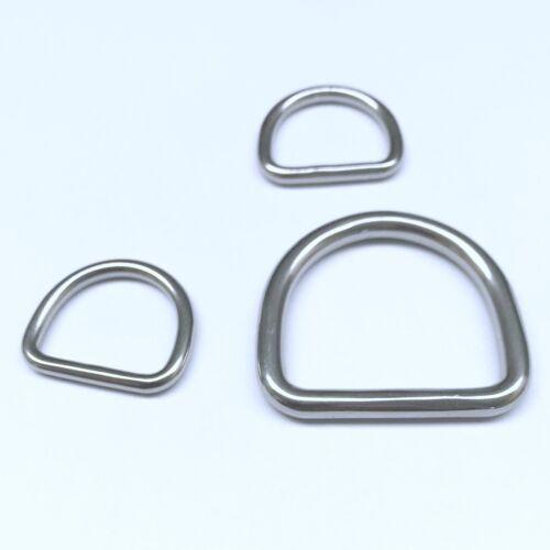 Acier Inoxydable D-Ring M 8376-v4a Poli œillet va œillets D-Anneaux en Acier Inoxydable VA Anneaux