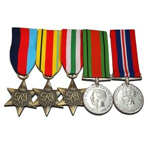 WW2-5x-Military-Medals-Royal-Army-Service-Corps-Group-War-amp-Defence-medal-Repro