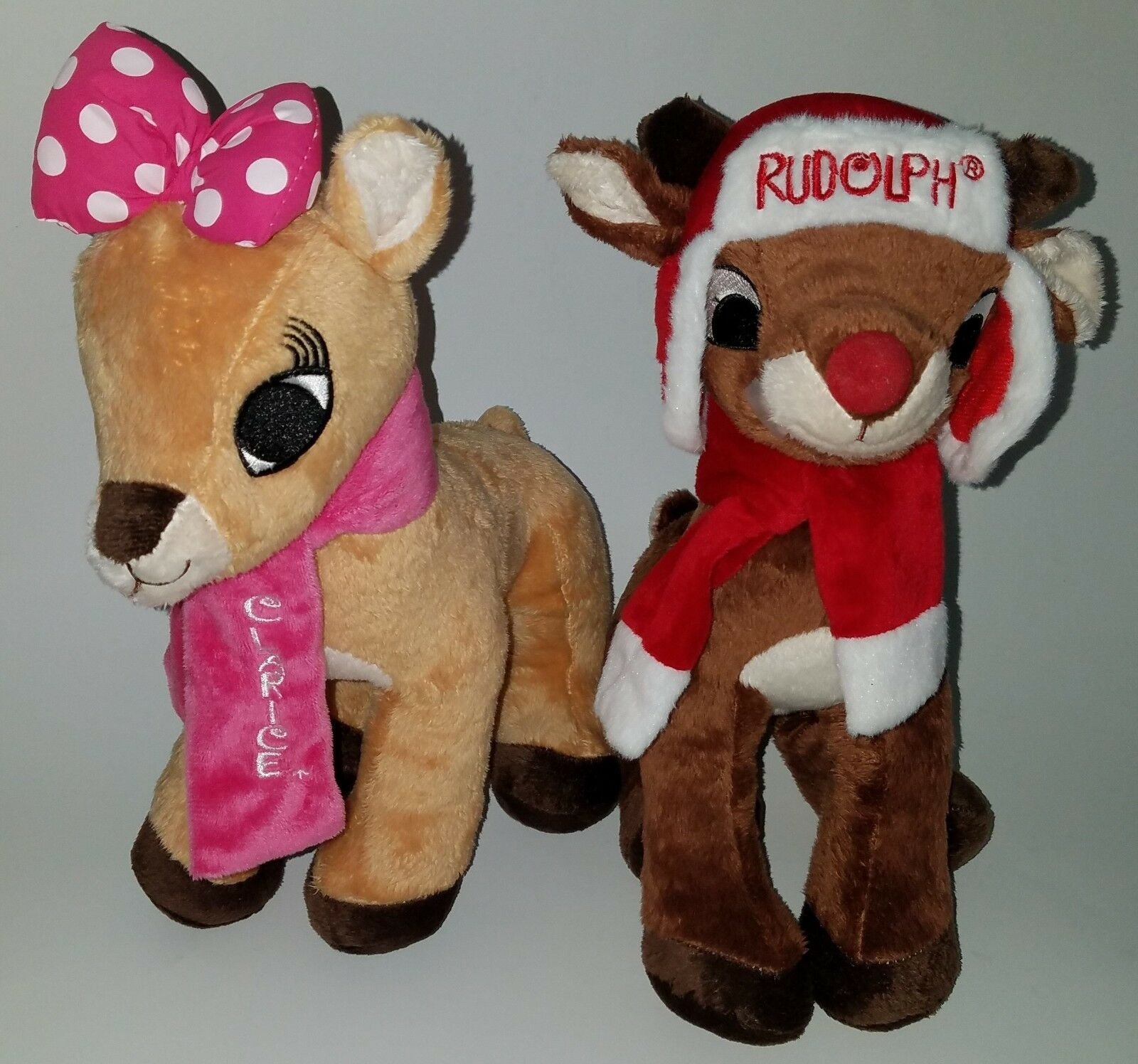 Rudolph Red-Nosed Reindeer Clarice Plush Lot 12  Dan Dee Christmas Stuffed Toy