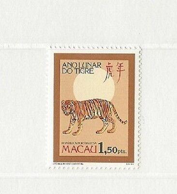"""Postwertzeichenausgabe Zum """"jahr Des Tigers"""" 1986 100% Hochwertige Materialien Macao Macao"""