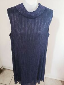 df4b6803a348 Image is loading Connected-Apparel-Cowl-neck-A-line-blue-dress-
