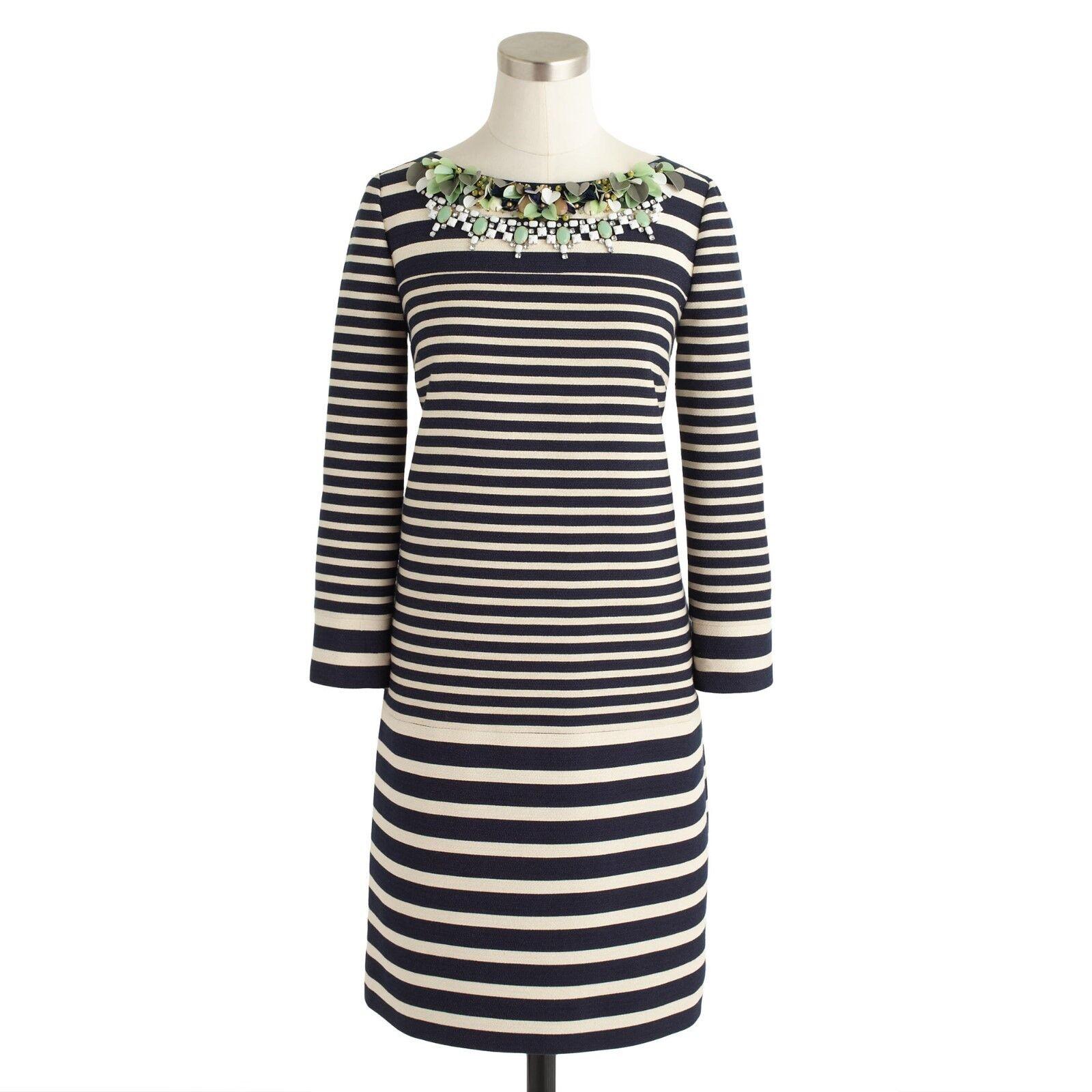 J. CREW COLLECTION Stripe mousseline Robe US 6 UK 10 12 Très bon état intelligent été Jewels