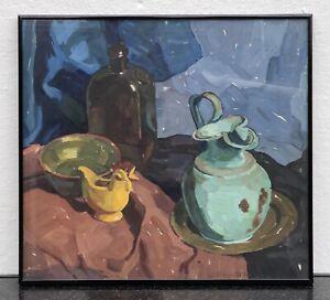 Expressive-Still-Life-With-Gefassen-Silk-Cloths-Mug-Bottle-Watercolour-V-Prague