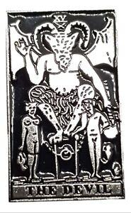 Devil-Tarot-Card-Pin-Badge-Brooch-Silver-Effect-Emo-Goth-Occult-Magic-Satan