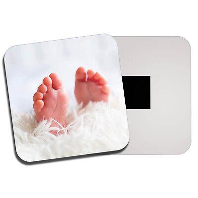 Kids Pregnancy Beautiful Fun Gift #8677 Cute Baby Feet Classic Fridge Magnet