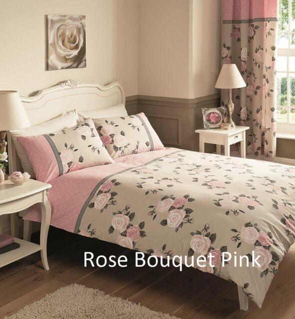 Duvet Cover Set With Pillow Case, Reversible Bed Linen Bedding Quilt Sets Top Q