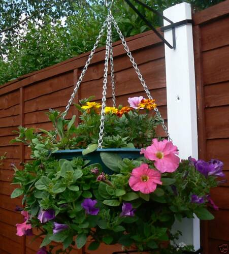 "12 x 14/"" Easy Fill Hanging Baskets GREEN hanging basket"